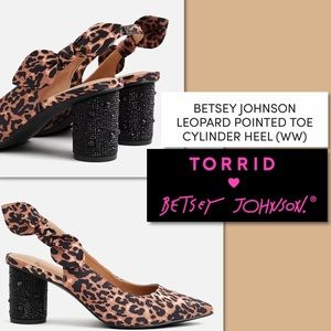 Torrid Betsey Johnson Leopard Cylinder Heels 8 1/2